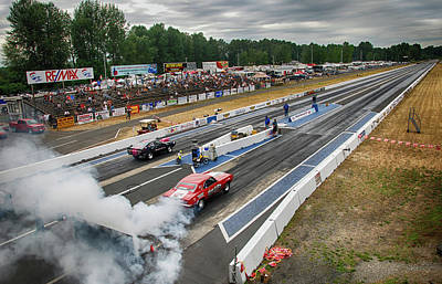 Uncle Sam Posters Rights Managed Images - Mission Drag Racing Track Royalty-Free Image by Doug Matthews