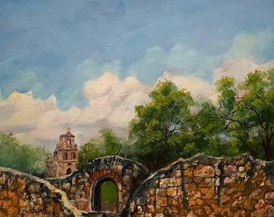 Painting - Mission Francisco De La Espada by Cheryl Damschen