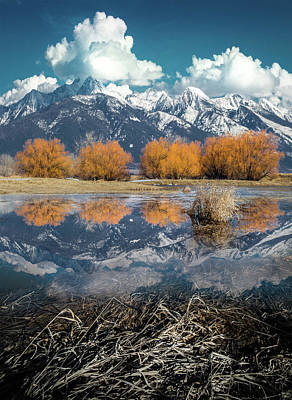 Photograph - Mission Mountains Spring Reflection / Mission Mountains, Montana  by Nicholas Parker