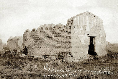 Photograph - Mission Nuestra Senora De La Soledad Salinas Valley Circa 1908 by California Views Mr Pat Hathaway Archives