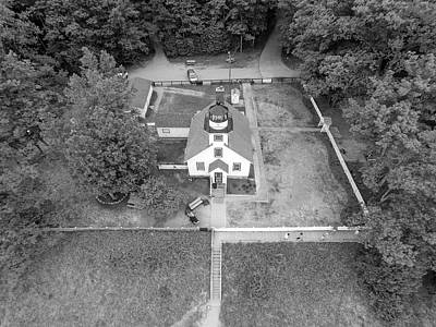Photograph - Mission Point Lighthouse Grand Traverse From Above  by John McGraw