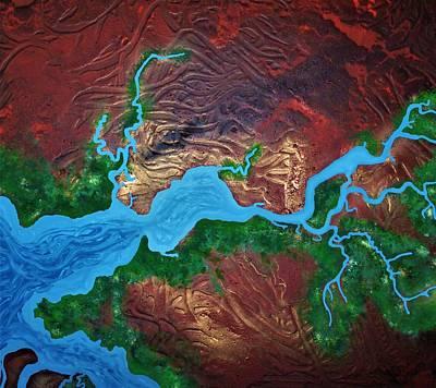 Mission River Art Print