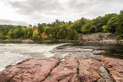 Photograph - Mississagi River - Whitewater Rapids And Pink Granite Riverbed by Georgia Mizuleva
