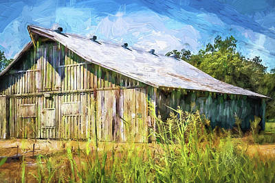Digital Art - Mississippi Delta Barn by Barry Jones