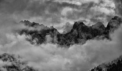 Mountain Royalty-Free and Rights-Managed Images - Mist Covered Mountains by Nigel Jones