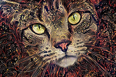 Digital Art - Mister Intensity by Peggy Collins