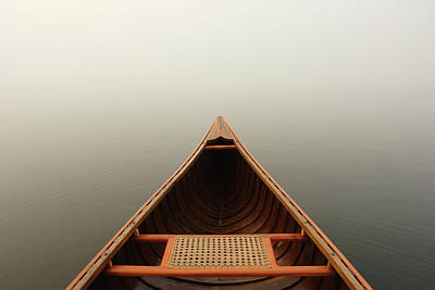 Photograph - Misty Canoe by Huntimages