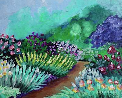 Painting - Misty Garden Path by Jacqueline Athmann
