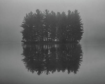 Photograph - Misty Island Reflections - Blue Ridge Parkway by Mike Koenig