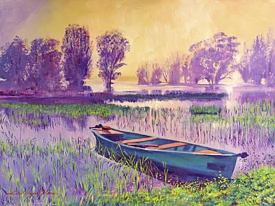 Misty Lake Morning Original
