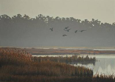 Painting - Misty Marsh by Peter Mathios