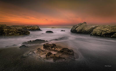 Photograph - Misty Morming At Moonstone by Tim Bryan