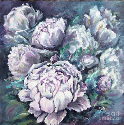 Painting - Misty Morning Peonies by Ryn Shell