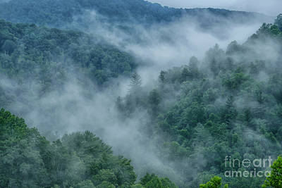Photograph - Misty Mountains Webster County by Thomas R Fletcher