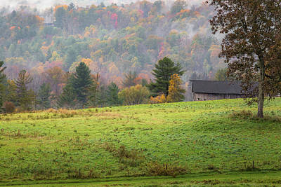 Photograph - Misty New England Autumn by Bill Wakeley