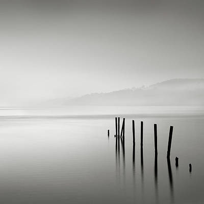 Scenic Photograph - Misty Posts by Billy Currie Photography