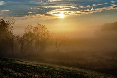 Photograph - Misty Valley Forge Sunrise by Bill Cannon
