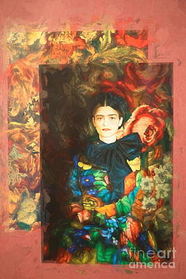 Photograph - Mix Design Frida Kahlo Mexico  by Chuck Kuhn