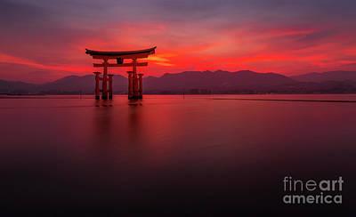 Photograph - Miyajima Sunset by Paul Woodford