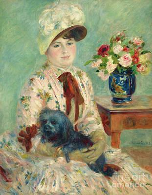 Painting - Mademoiselle Charlotte Berthier, 1883 by Pierre Auguste Renoir