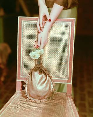 Photograph - Mme. Valentina Gold Lame Bag by Horst P. Horst