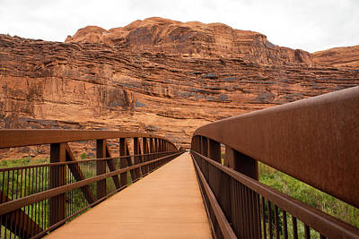 Photograph - Moab Canyon Pathway Footbridge by Tom Cochran