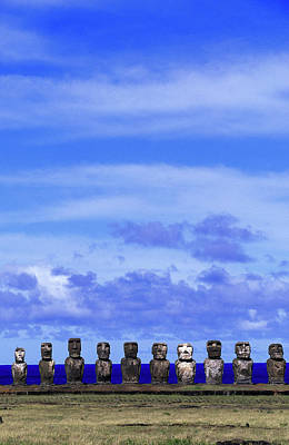 Photograph - Moai At Ahu Tongariki, Easter Island by Buena Vista Images