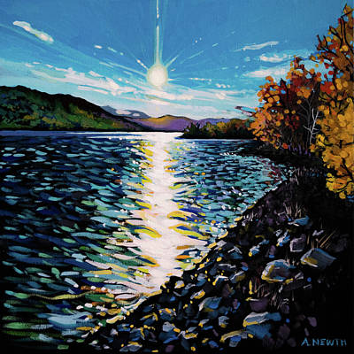 Wall Art - Painting - Moberly Lake by Alison Newth