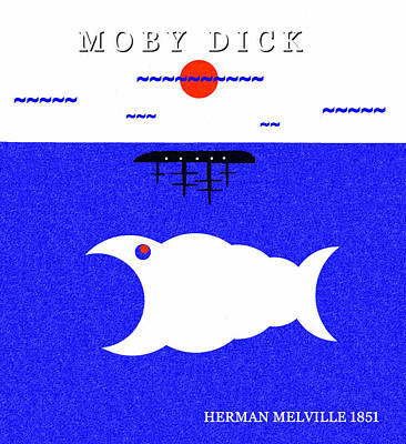 Royalty-Free and Rights-Managed Images - Moby Dick minimal artwork by David Lee Thompson