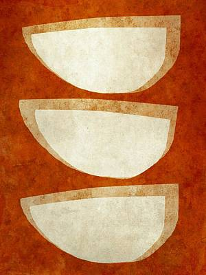 Mixed Media - Mocha Bowls by Patricia Strand