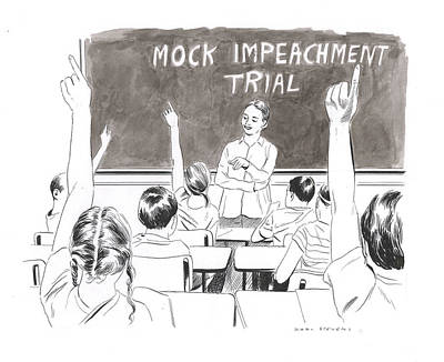 Drawing - Mock Impeachment by Karl Stevens