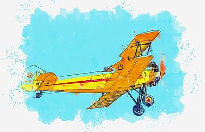 Royalty-Free and Rights-Managed Images - Model 16B From the Uderside watercolor by Ahmet Asar by Ahmet Asar