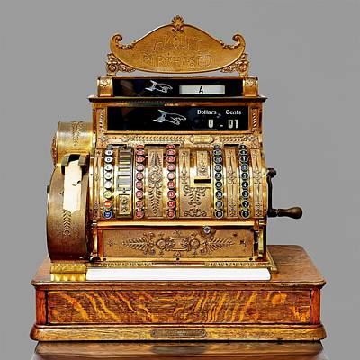 Photograph - Model #452 - National Cash Register by KJ Swan