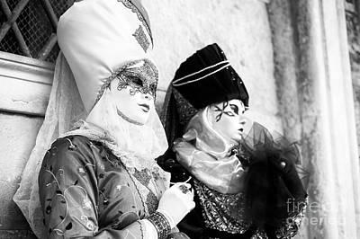 Photograph - Model Headdress At Carnevale Di Venezia by John Rizzuto
