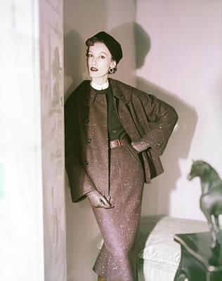 Photograph - Model In A Ben Gershel Suit by Horst P. Horst