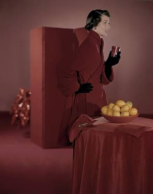 Photograph - Model In A Ben Reig Coat by Horst P. Horst