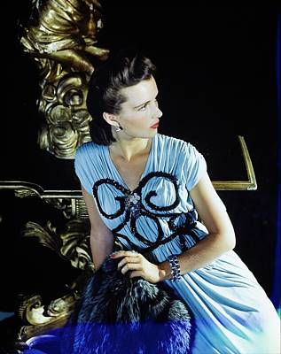 Photograph - Model In A Bergdorf Goodman Dress by Horst P. Horst