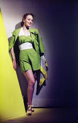 Photograph - Model In A Best Swimsuit by Horst P. Horst