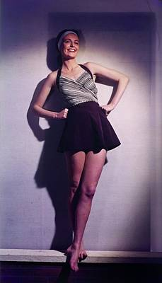 Photograph - Model In A Brigance Swimsuit by Horst P. Horst