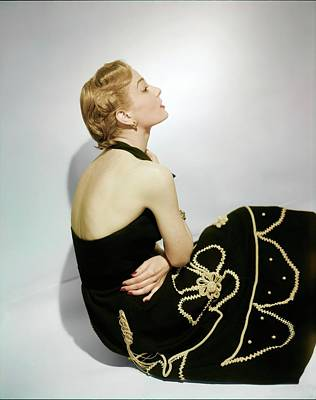 Photograph - Model In A Carolyn Schnurer Dress by Horst P. Horst