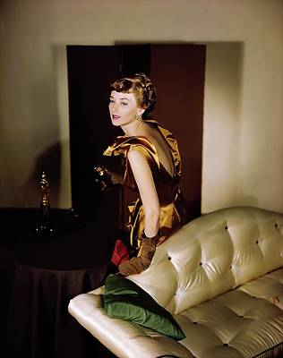 Photograph - Model In A Ceil Chapman Dress by Horst P. Horst