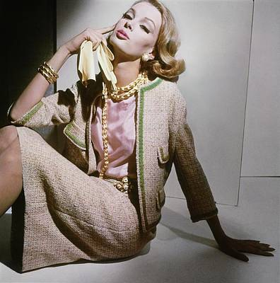 Photograph - Model In A Dan Millstein Suit by Horst P. Horst