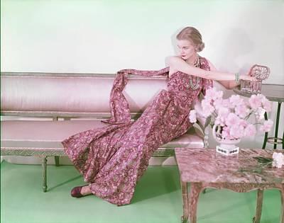 Photograph - Model In A Dorian Mack-soud Dress by Horst P. Horst