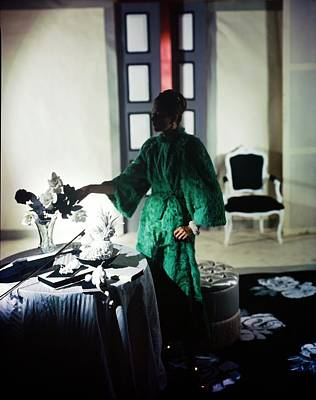 Photograph - Model In A Esther Dorothy Coat by Horst P. Horst