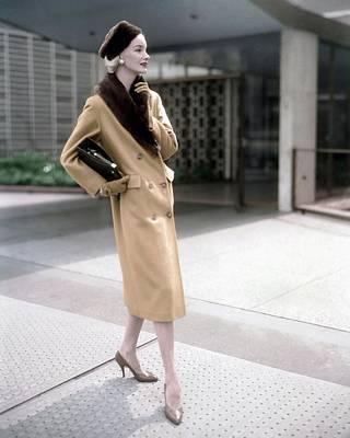 Photograph - Model In A Handmacher Coat by Horst P. Horst