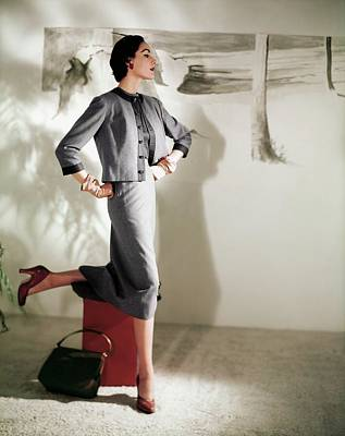 Photograph - Model In A Handmacher Suit by Horst P. Horst