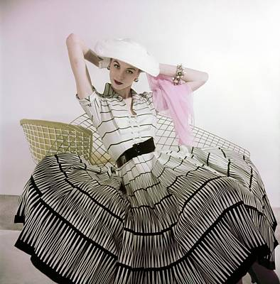 Photograph - Model In A Harvey Berin Dress by Horst P. Horst