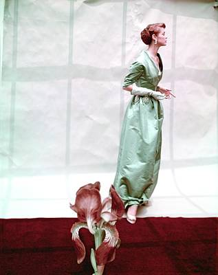 Photograph - Model In A Hattie Carnegie Dress by Horst P. Horst