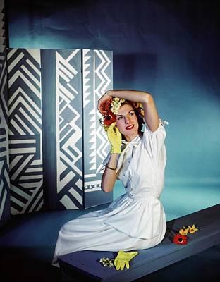 Photograph - Model In A Henri Bendel Dress by Horst P. Horst