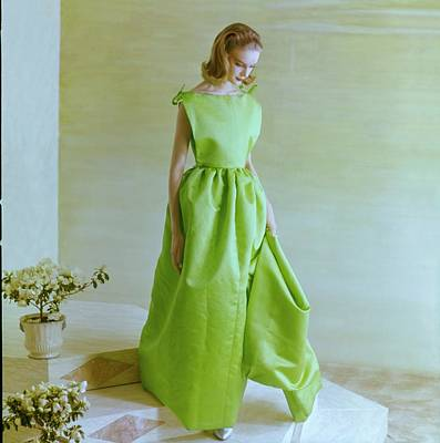 Photograph - Model In A Irene Galitzine Gown by Henry Clarke